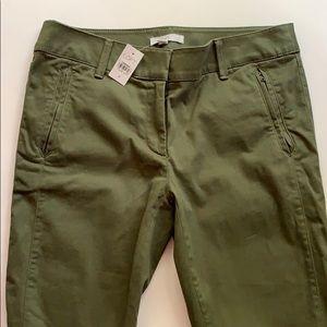 NWT Loft Chino Pants - Army/ Olive Green
